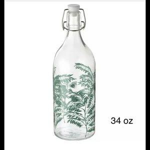 Ikea KORKEN Bottle w/stopper, patterned 34 oz